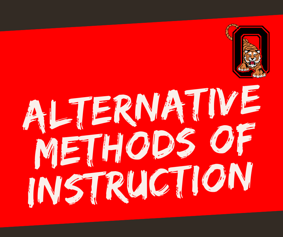 Alternative Methods of Instruction graphic