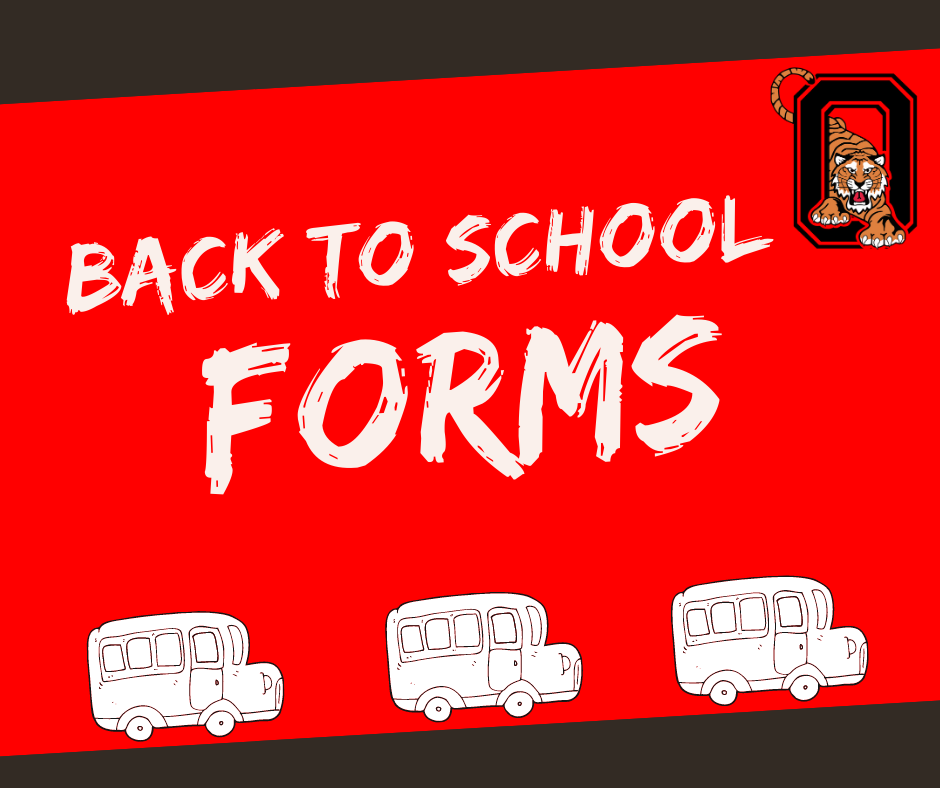 Back to School Forms (for new and returning students)