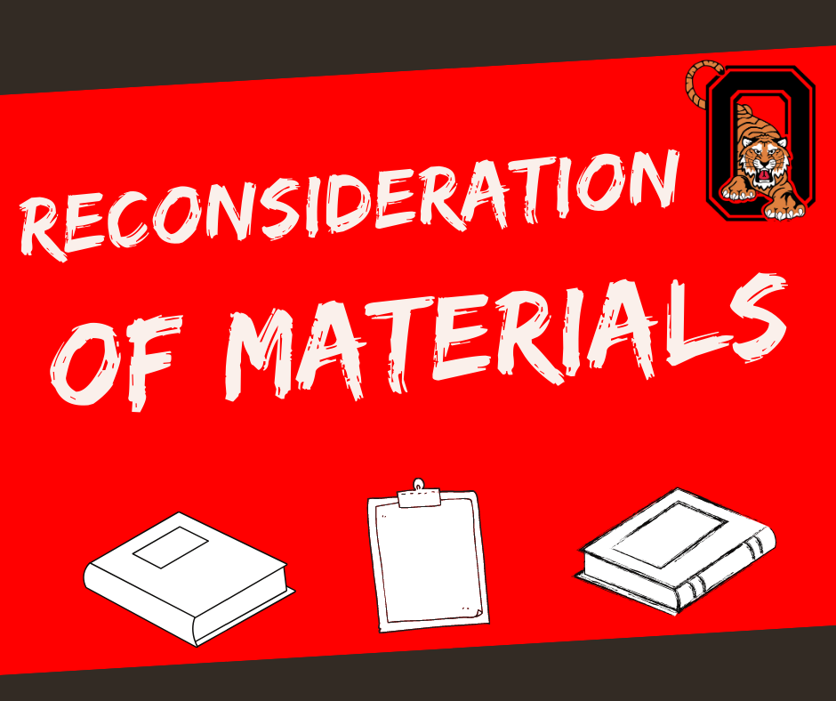 Reconsideration of Materials Request