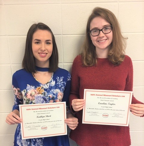 Congratulations to OHS seniors Caroline Taylor and Kaitlyn Short for receiving honorable mention.