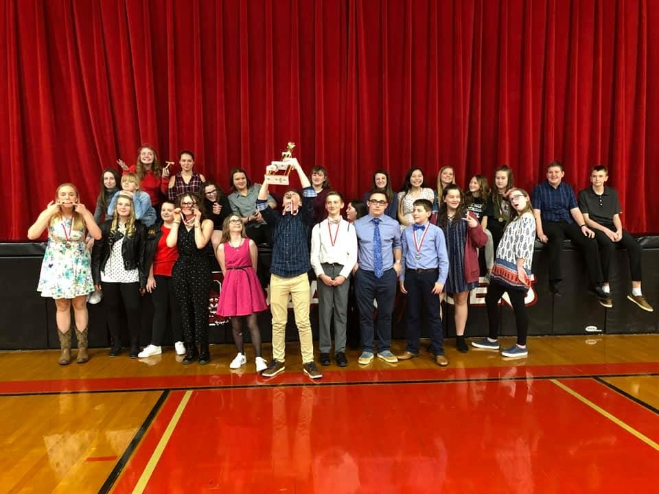 Junior High Speech & Debate Takes 2nd at Tourney