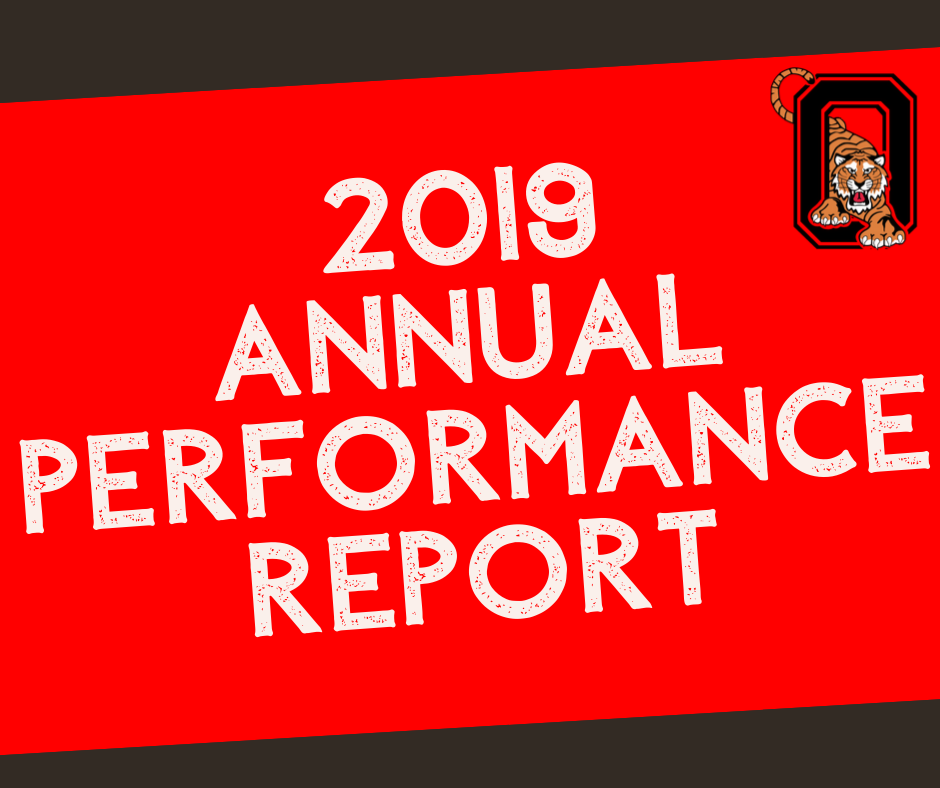 2019 Annual Performance Report Graphic