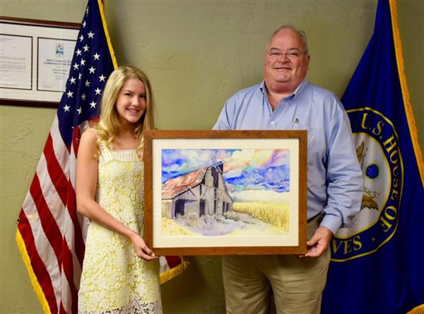 On May 13 Congressman Long (R-MO) recognized Ozark High School student Skylar Schafer for winning this year's Congressional A