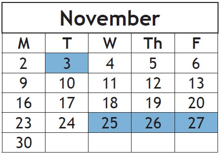 Calendar Changed: No School on Election Day