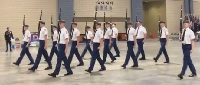 Ozark JROTC Battalion Drill Team competed in the U.S. Army Drill National Competition.