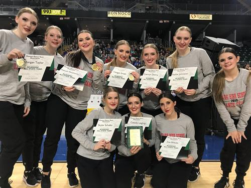 Ozark Dance Team Named Academic All-State