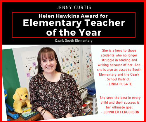 Elementary teacher of the year graphic