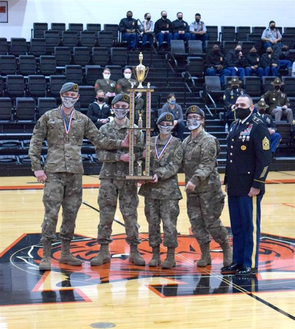 Ozark Drill Team Named Grand Champion at Waynesville Meet