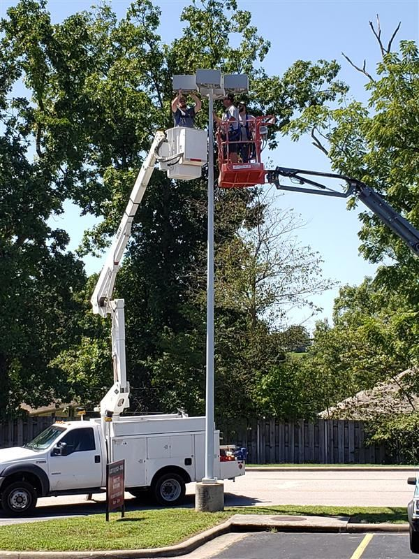 On Aug. 27 the maintenance department retrofitted all the OHS parking lot lights to LED.