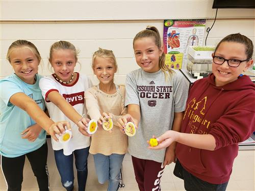 North Elementary 5th graders show off the life cycle