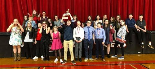 Ozark Junior High hosted the Ozark Speech & Debate Tournament Feb. 29 with 10 schools and hundreds of entries. Overall, Ozark