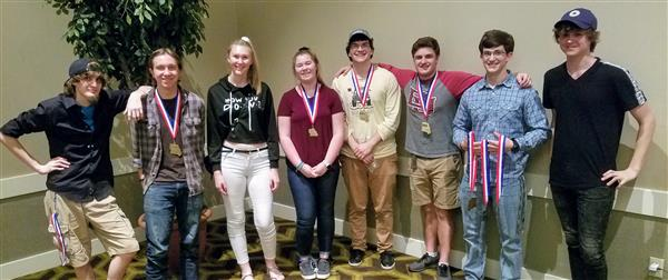 Nine Ozark High School students attended the Technology Education Association of Missouri's State Contest May 6-7.