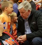 Gov. Mike Parson visited West Elementary May 10.