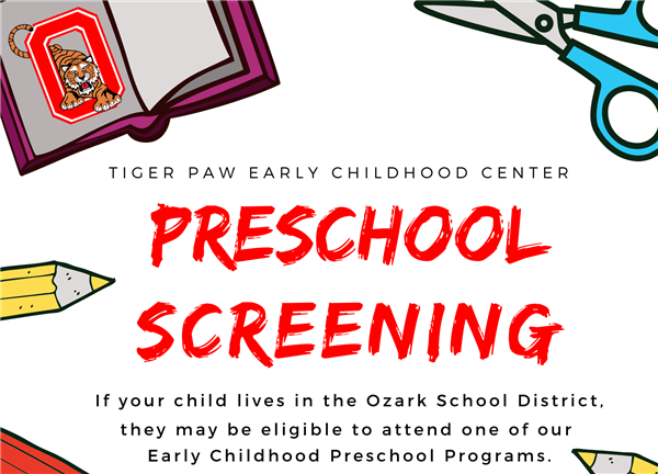 Preschool Screening Registration Open for Tiger Paw